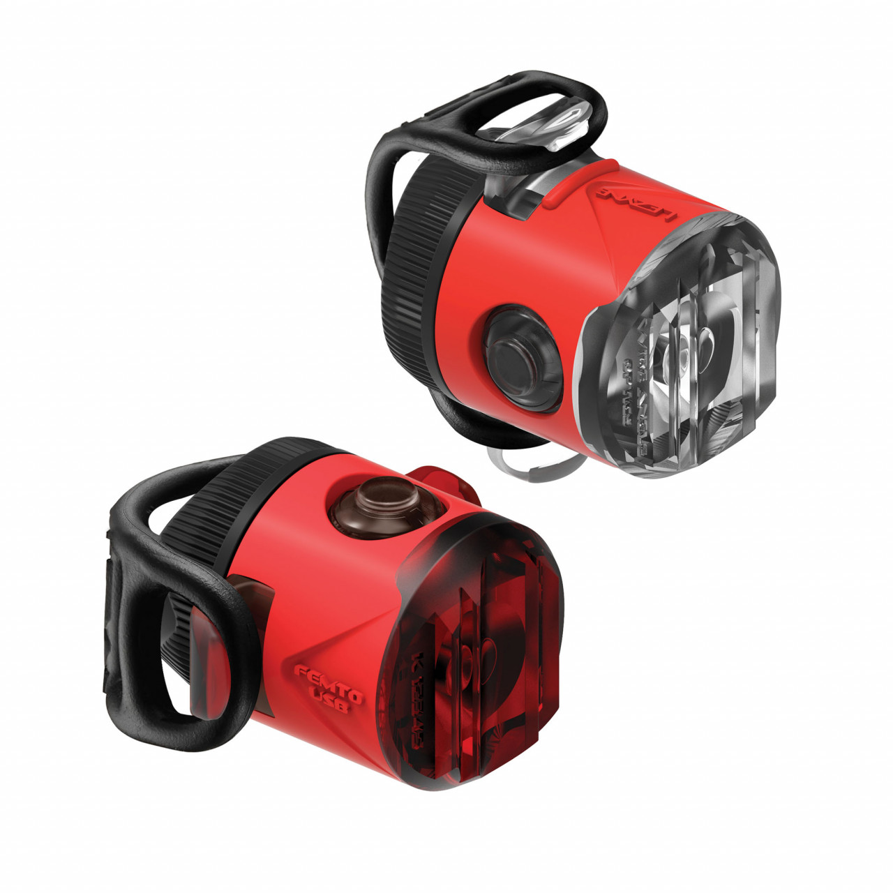 LEZYNE Set svetiel LED FEMTO USB DRIVE - predné + zadné modré
