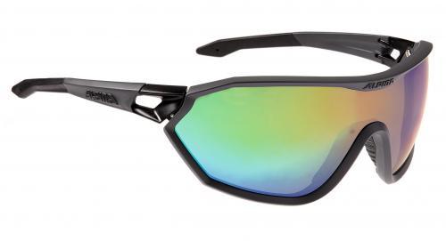 ALPINA Okuliare S-WAY VLM+ čierne matné sklá Varioflex rainbow mirror