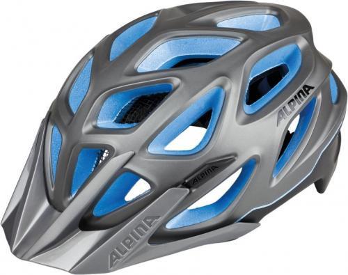 ALPINA Cyklistická prilba MYTHOS 3.0 L.E. tmavostrieborno-titánovo-modrá Veľkosť : M, darksilver-titan-blue