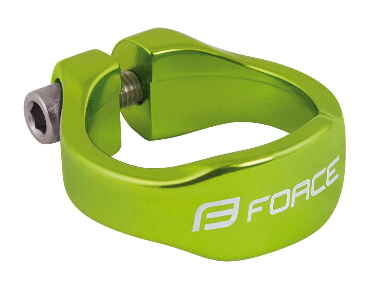 FORCE objímka sedlovky na inbus 34,9mm Al, zelená