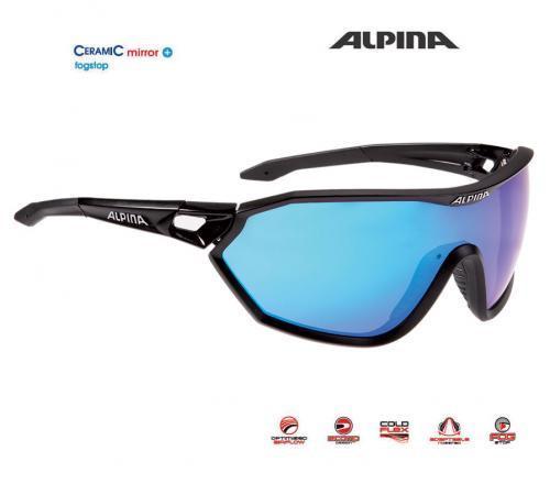 ALPINA Okuliare S-WAY CM+ čierne matné