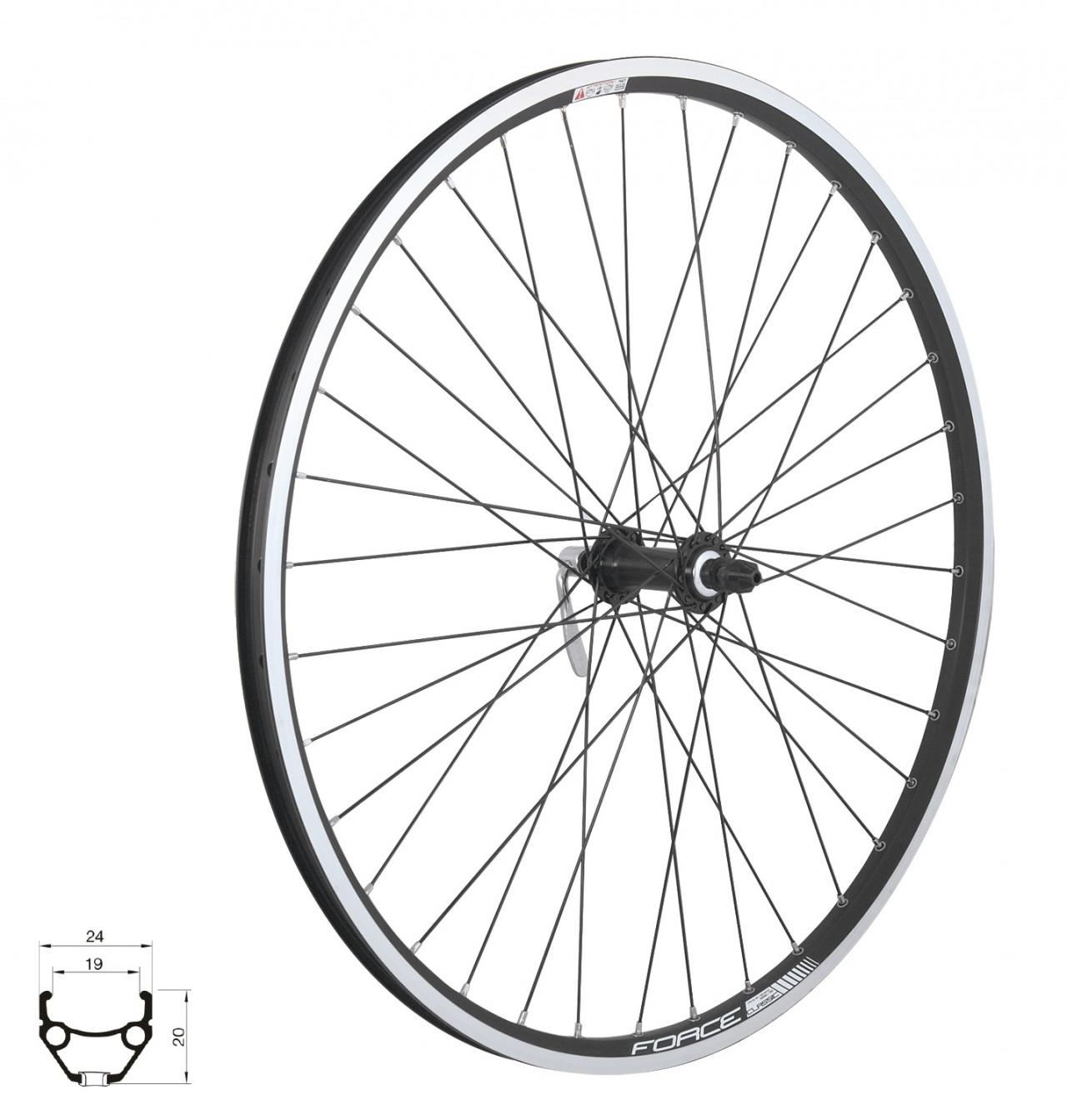 """FORCE koleso predné CLASSIC 622x19"""" V"""",  HBTX500, 36d"""