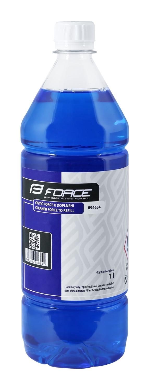 FORCE čistič na doplnenie - 1l - modrý
