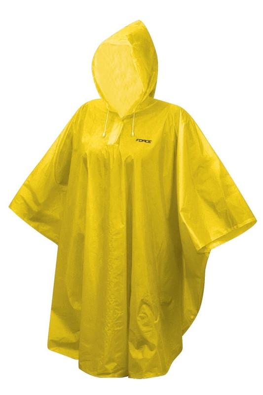 FORCE poncho detské nepremokavé, žlté XS - M