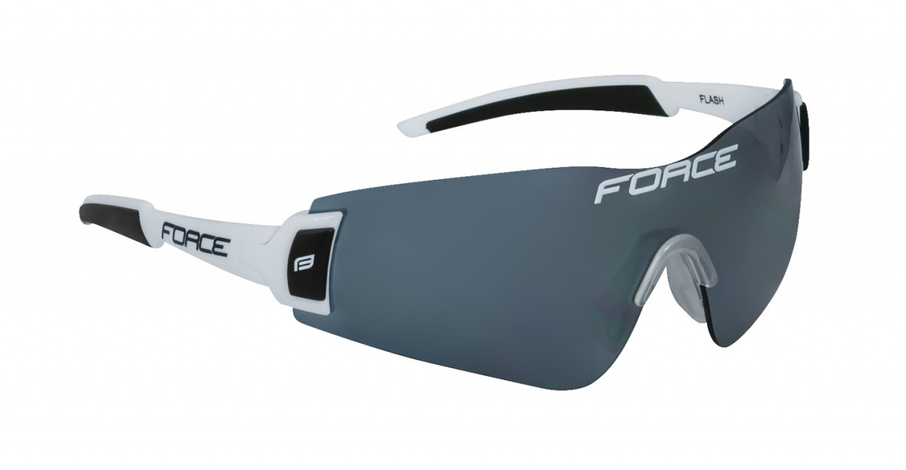 FORCE okuliare FLASH, bielo-čierne, čierne sklá