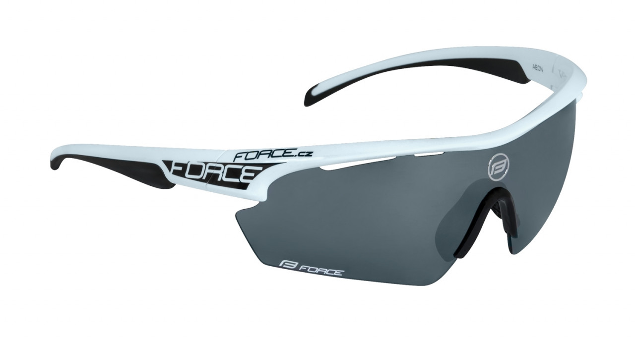 FORCE okuliare AEON, bielo-čierne, čierne laser sklá