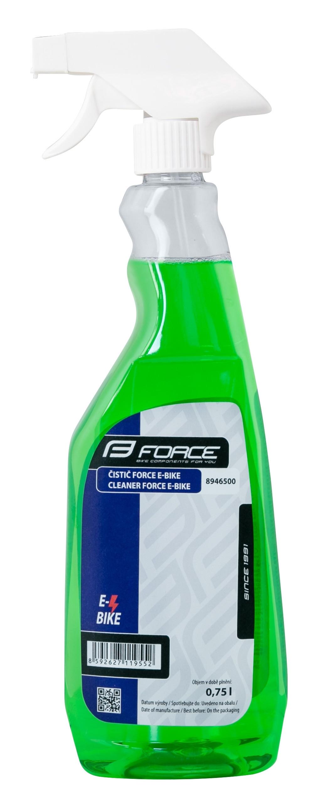 FORCE čistič E-BIKE rozprašovač 750 ml - zelený