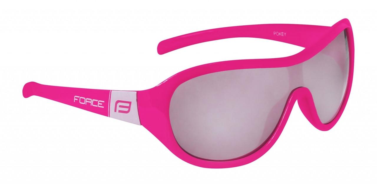 FORCE okuliare POKEY detské, ružovo-biele, čierne sklá