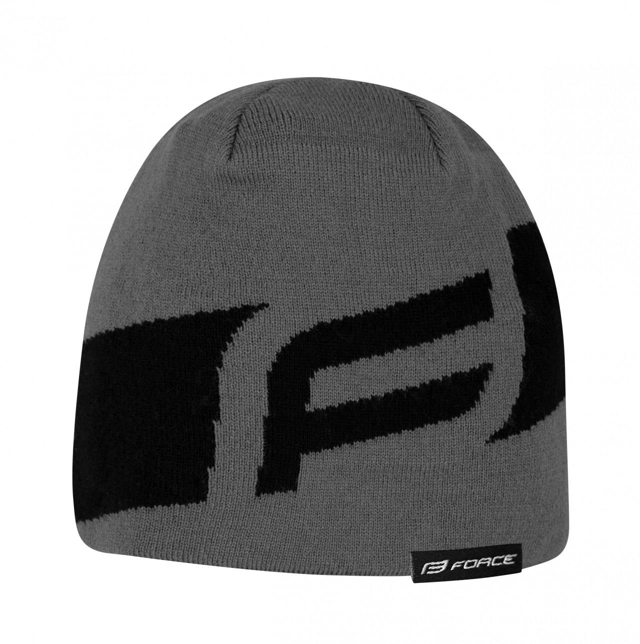 FORCE čiapka zimná DWARF pletená, čierno-šedá