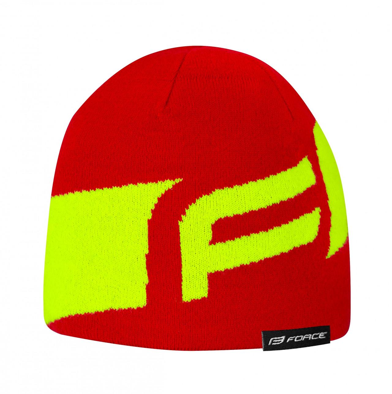FORCE čiapka zimná DWARF pletená, červeno-fluo