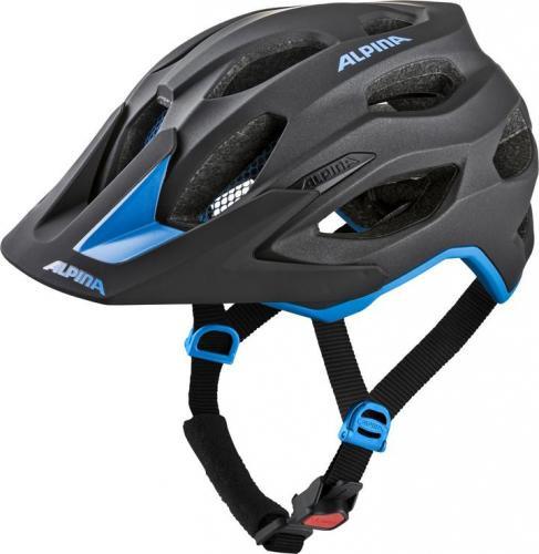 ALPINA Cyklistická prilba Carapax 2.0 čierno-modrá Veľkosť : M