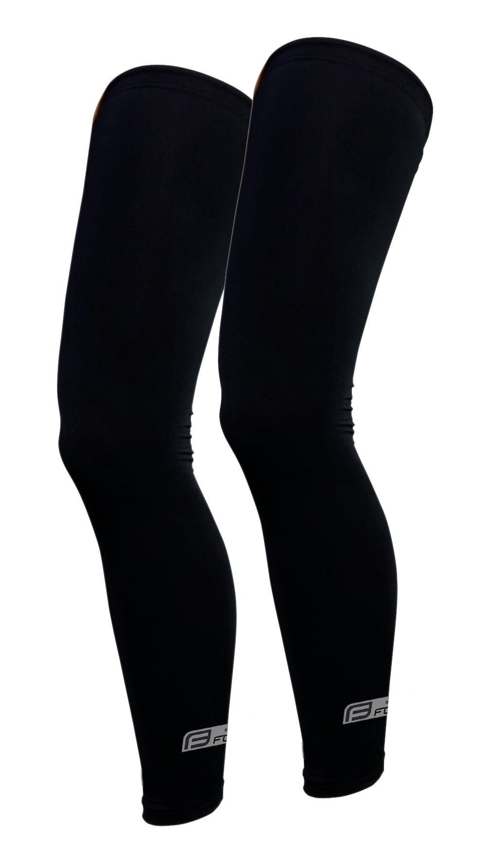 FORCE návleky na nohy RACE, lepené, čierne M