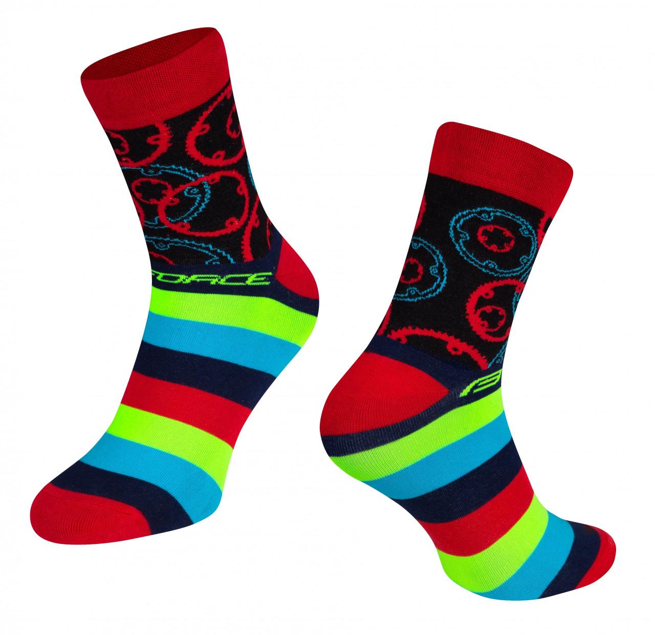 Force ponožky SPROCKET, červené L-XL/42-46