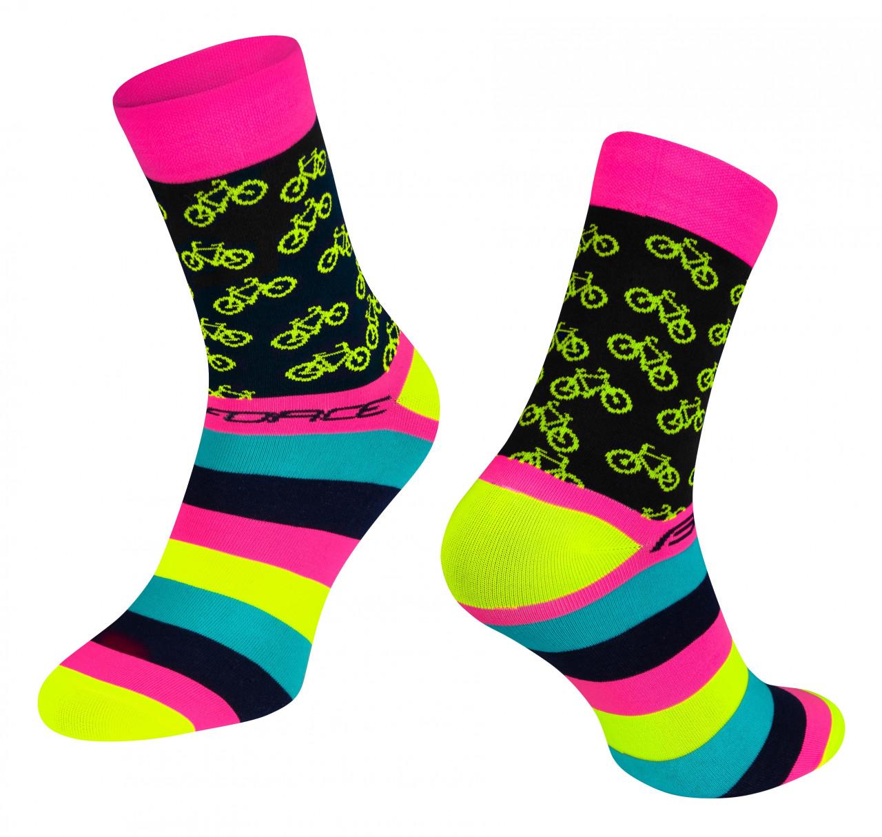 FORCE ponožky CYCLE, ružové S-M/36-41
