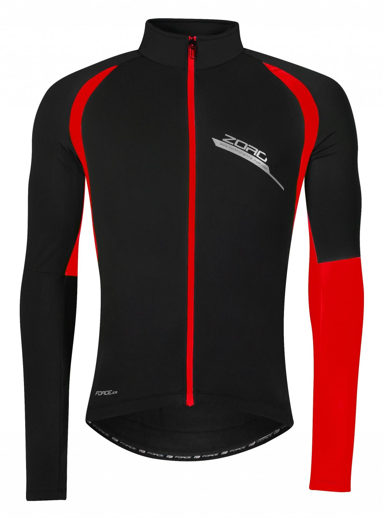 FORCE bunda/dres ZORO dlhý rukáv, čierno-červená Veľkosť XS