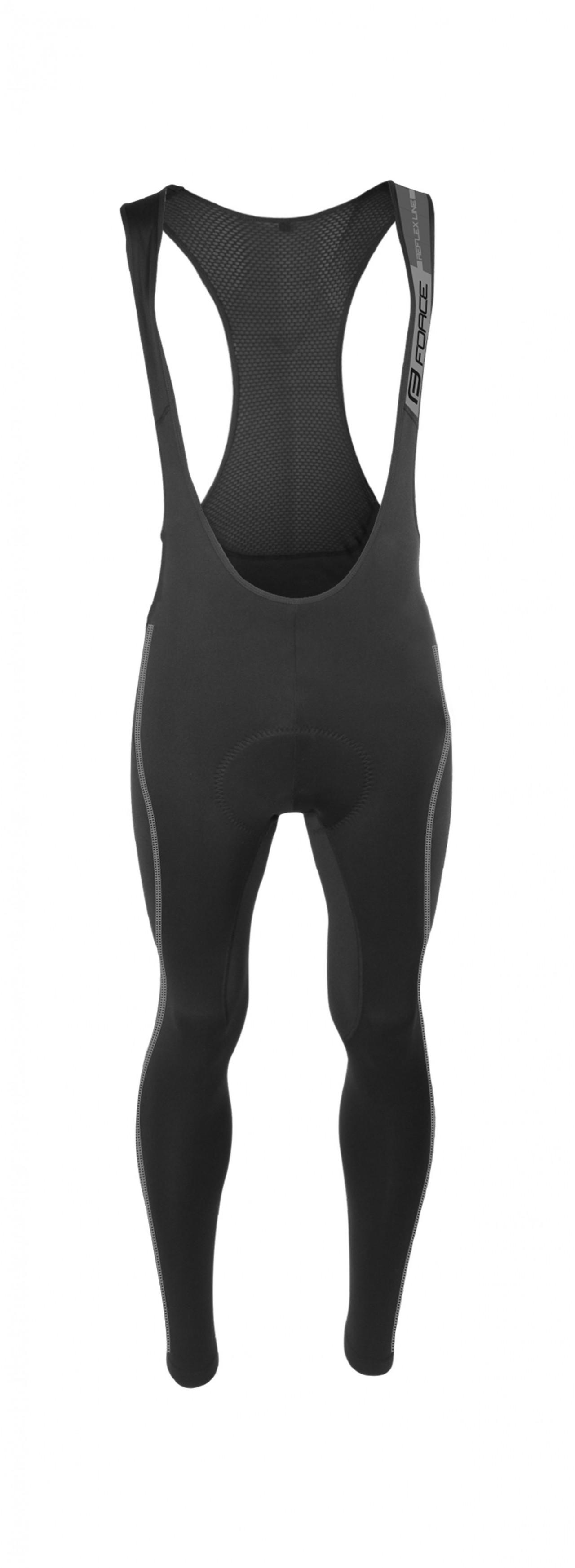 FORCE nohavice REFLEX LINE KID s vložkou, čierne 128-140