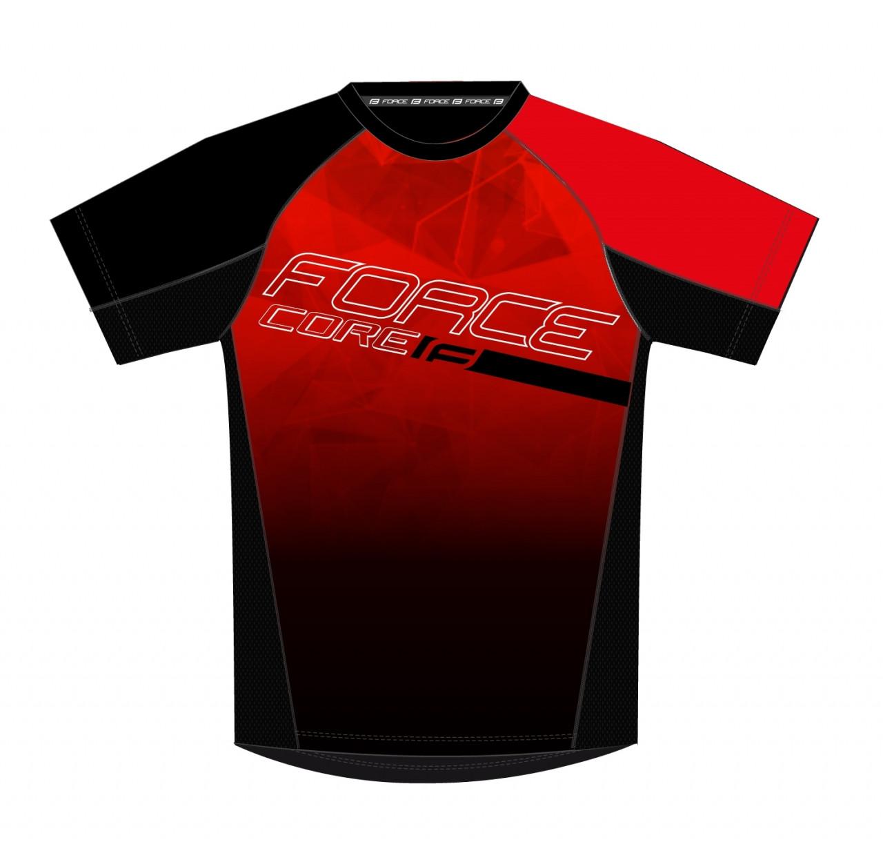 FORCE dres MTB CORE, červeno-čierny 3XL