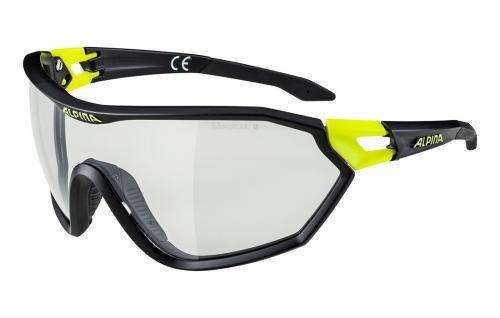ALPINA Okuliare S-WAY VL+ čierna matná-neon žltá sklá Varioflex čierne
