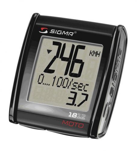 SIGMA Digitálny tachometer MC 18.12 Moto vhodný na motorky, štvorkolky