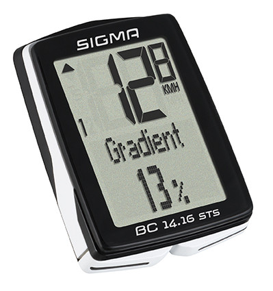 SIGMA Cyklocomputer BC 14.16 STS Topline 016, s výškomerom, bezkáblový