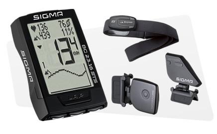 SIGMA Cyklocomputer BC 23.16 STS SET (CAD + TF) Topline 016, s výškomerom