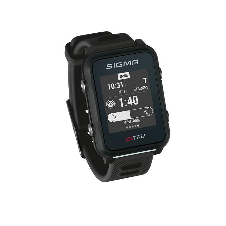 SIGMA Športové triatlonové hodinky - pulzmeter iD.TRI Basic čierne / black