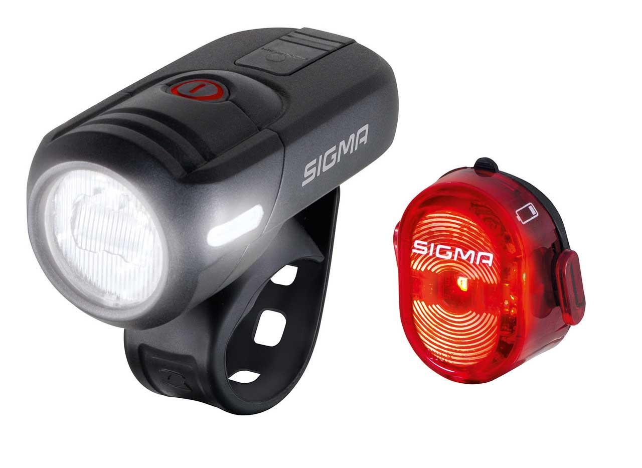 SIGMA Set svetlo predné AURA 45 USB + blikačka Nugget II sada svetiel