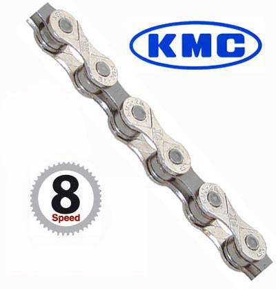 KMC Reťaz X 8 strieborno-šedá 114 článkov, X-8-93 vrátane spojky Staré balenie