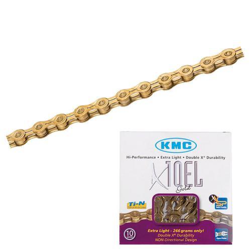 KMC Reťaz X 10 EL Ti-N Gold 110 článkov, extra ľahká