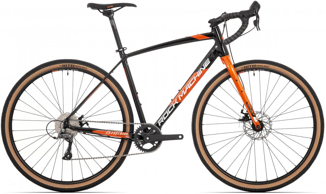 Rock Machine Gravelride 200, model 2021, čierna/oranžová/strieborná 56 (L)