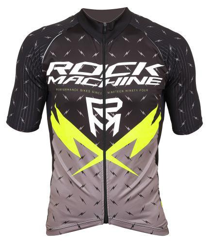 Rock Machine Cyklistický dres RM XC FLASH Veľkosť : S, čierno-sivý
