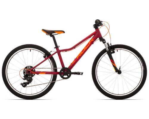 """Rock Machine Bicykel CATHERINE 24 VB veľ.: 12"""" (XS), DARK CRIMSON/CRIMSON/NEON ORANGE"""