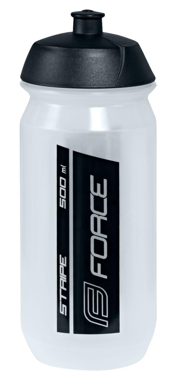 FORCE fľaša STRIPE 0,5 l biela