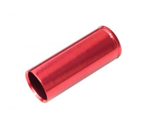 MAX1 Koncovka bowdenu CNC Alu, 5mm, utesnená červená - 100ks balenie 100 ks