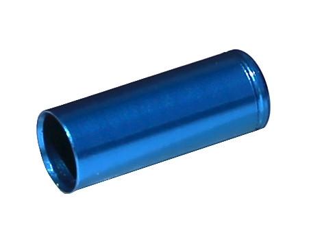 MAX1 Koncovka bowdenu CNC Alu, 5mm, utesnená modrá - 100ks balenie 100 ks