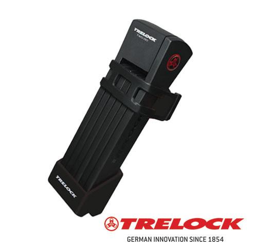 Trelock Skladací zámok FS 200/100 TWO.GO™ čierny držiak, 100 cm