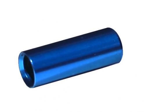 MAX1 Koncovka bowdenu CNC Alu, 4mm, modrá - 100ks balenie 100 ks