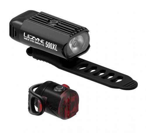 LEZYNE Set svetiel HECTO DRIVE 500XL a FEMTO USB čierne