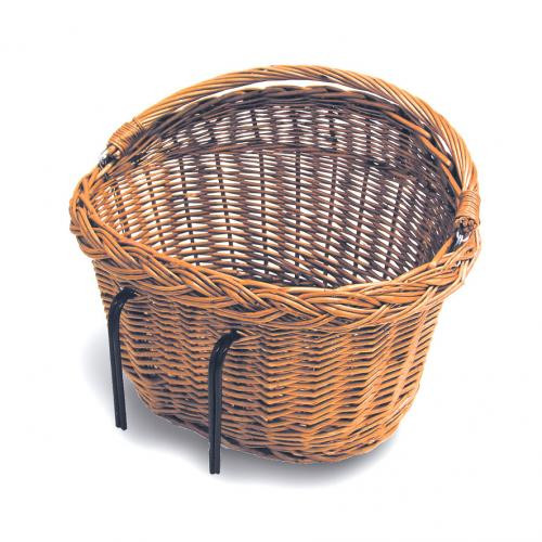 BASIL Košík na bicykel DETROIT ratanový s hákmi na riadítka alebo nosič