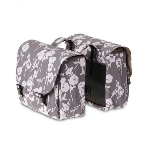BASIL Taška na nosič ELEGANCE Double, tmavošedá elegatná, dvojitá taška na nosič