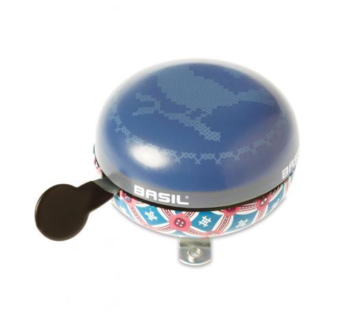 BASIL Zvonček na bicykel Boheme, modrý veľký zvonček, priemer 80mm