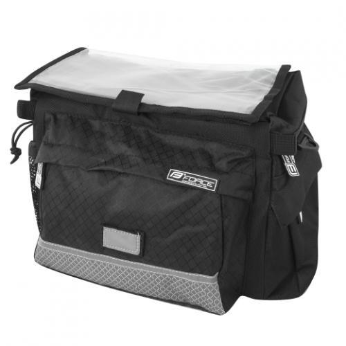 FORCE taška na riadítka NEKY KLICK 25,4-31,8 mm, čierna