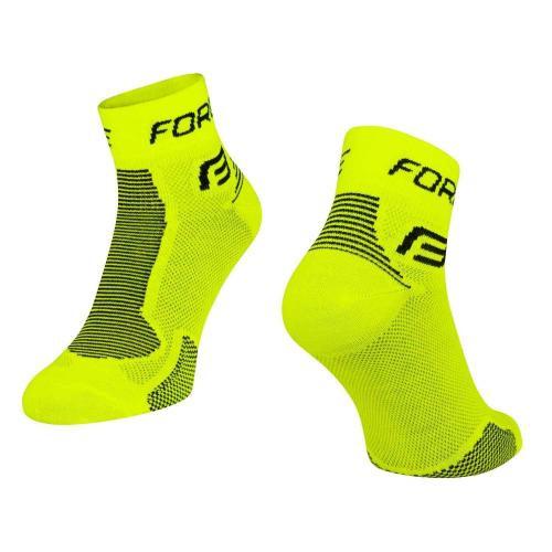 FORCE ponožky 1, fluo-čierne Veľkosť : XXL / 48-49