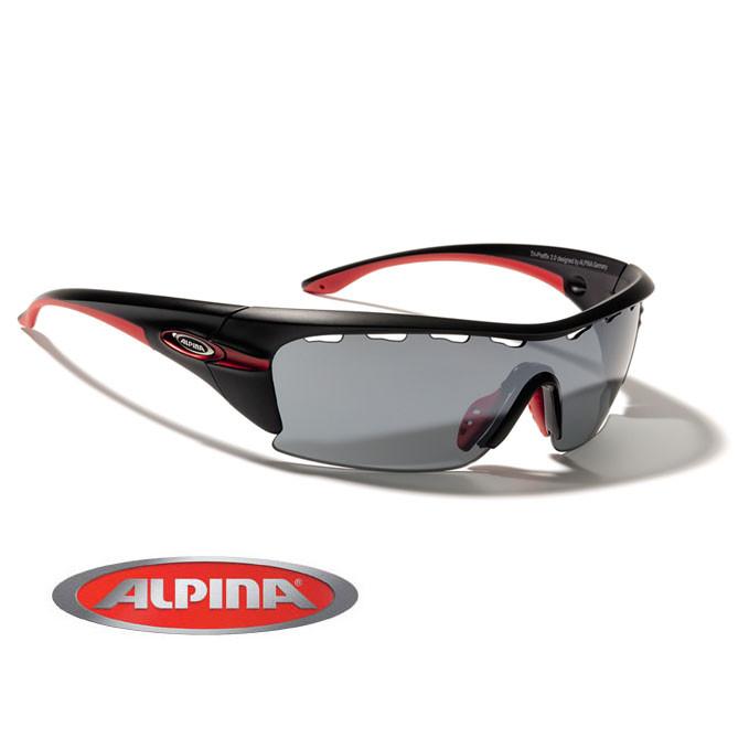 ALPINA Cyklistické okuliare TRI-PRAFFIX 3.0 čierne, vymeniteľné sklá