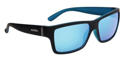 ALPINA Okuliare KACEY čierno-modré matné sklá CERAMIC mirror modré S3