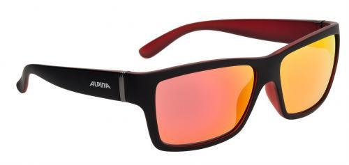 ALPINA Okuliare KACEY čierno-červené matné sklá CERAMIC mirror červené S3