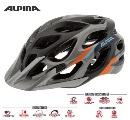 ALPINA Cyklistická prilba MYTHOS 2.0 L.E. tmavostrieborno-modro-oranžová Veľkosť : M, darksilver-blue-orange