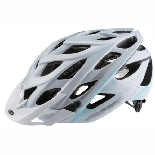 ALPINA Cyklistická prilba D-ALTO bielo-modro-strieborná veľ.: M, white-blue-silver