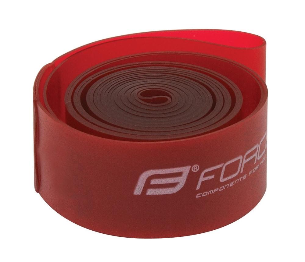 "FORCE páska do ráfika 26"" (559-22), krabička, červená"