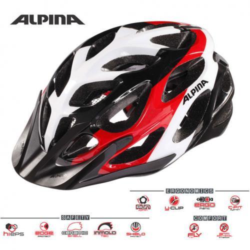 ALPINA Cyklistická prilba MYTHOS 2.0 čierno-bielo-červená Veľkosť : M, black-white-red
